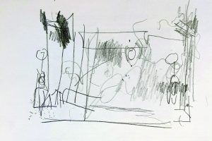 Drawing, Walking, Talking by Pam